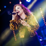 Jess Glynne performing live at MTV Brand New