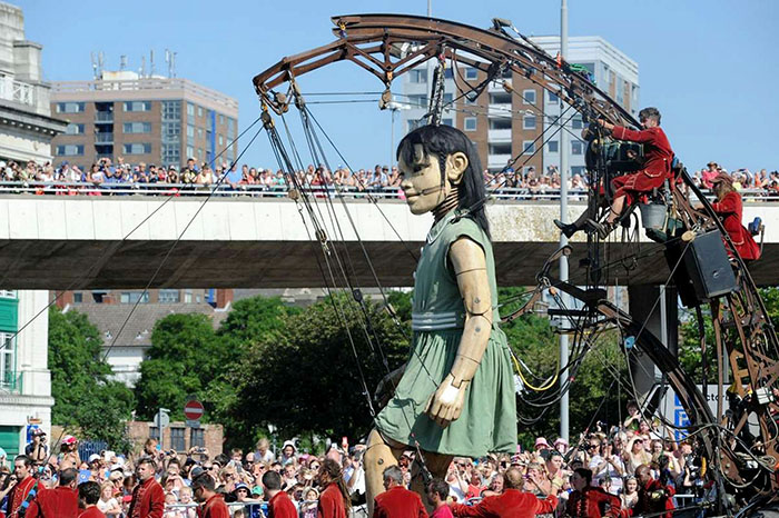 Little Girl Giant from The Giants Spectacular - Memories of August 1914