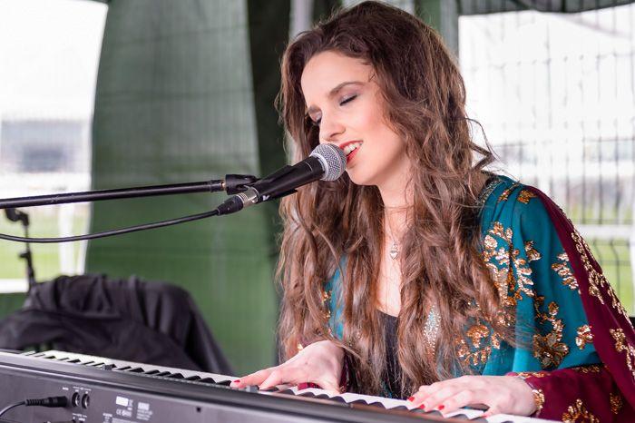 Sophia Ben-Yousef performing live at 2014 Grand National