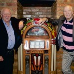 Johnny Hutch and Dave Jamo check out the new jukebox