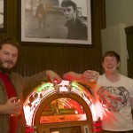 Acquainting themselves with the new jukebox