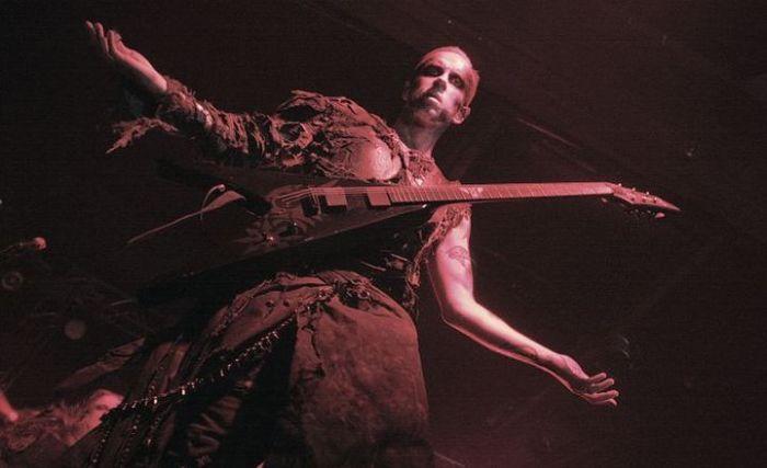 Behemoth's Nergal getting into the Christmas spirit. Presumably. [Credit: Bruno Bergamini]