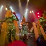 The dance of the pineapple headdresses