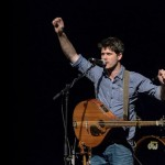 Lakeman rallies the audience