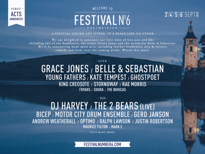 Festival Number 6 returns featuring Grace Jones plus Belle & Sebastian