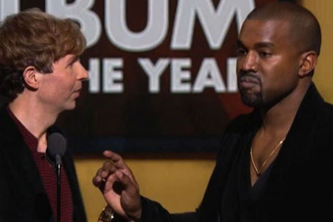 Kanye West interrupting Beck at the Grammys
