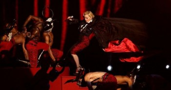 Madonna is sent tumbling at The BRITs