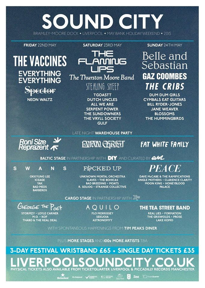 Liverpool Sound City - not bad, eh?