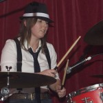 Swapsies drummer in Bugsy Malone garb