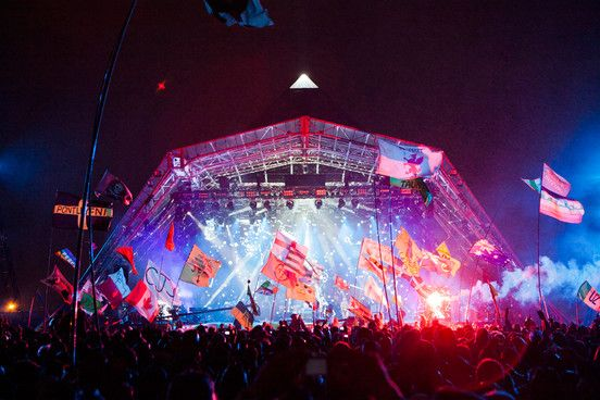 Glasto's Pyramid Stage - ready for Kanye?
