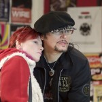 Adam Ant with fan at Dig Vinyl -Record Store Day 2015