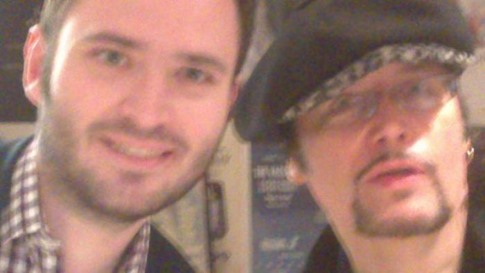 A self-indulgent snap of Getintothis' Shaun Ponsonby with Adam Ant at Dig Vinyl