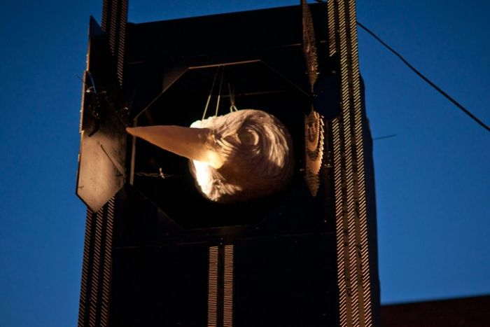 The bird tower - just one of the many installations during Kazimier special events