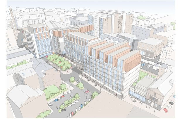 Artist's impression of plans by Elliot Group for Wolstenholme Square