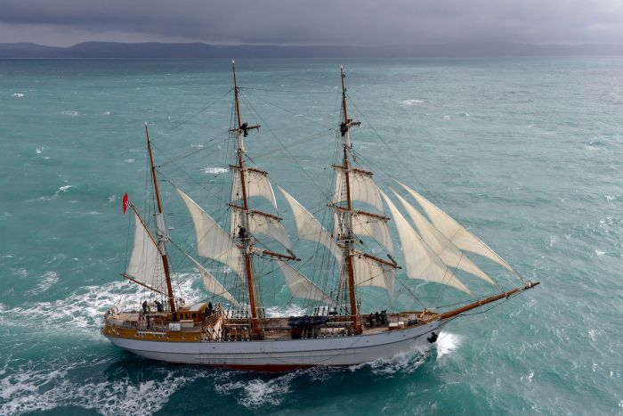 The Kaskelot tall ship coming to a docklands festival near you