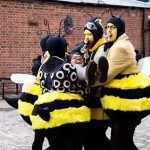Some actual real-life super bees at LightNight 2015