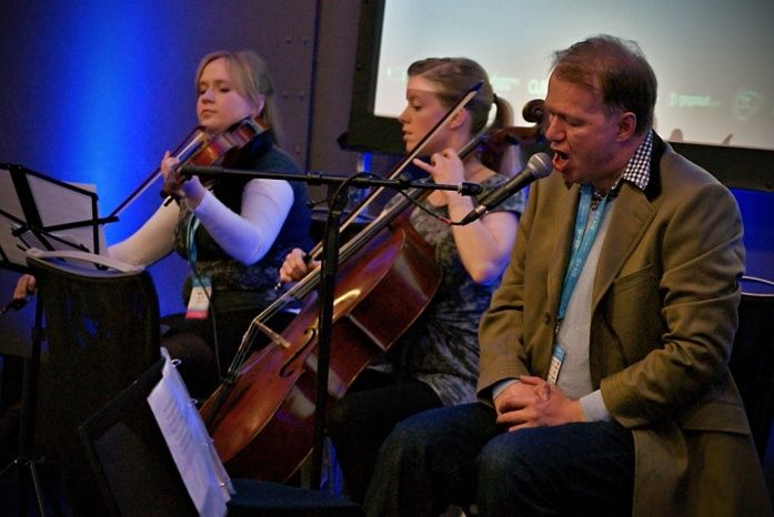 Edwyn Collins and the string quartet at Sound City