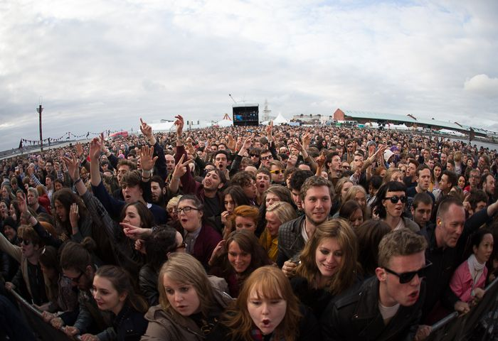 The Cribs fans at Sound City