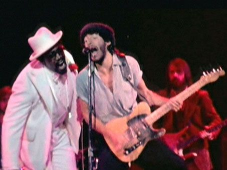 Springsteen and Clarence Clemons at the Hammersmith Odeon in 1975