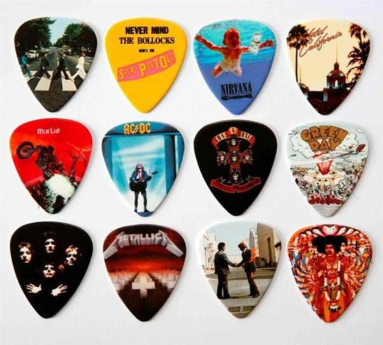 Snazzy guitar picks