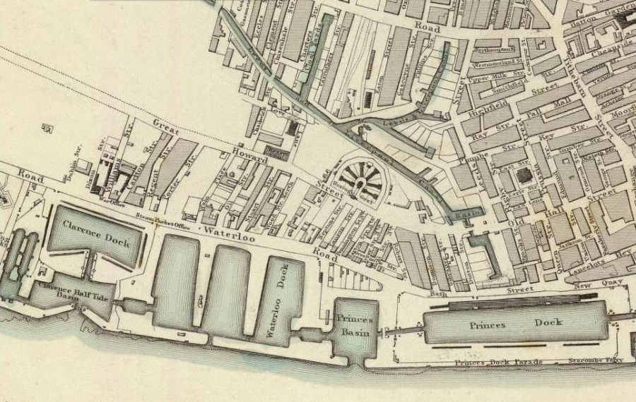 Liverpool Map 1836 detail