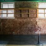 Exposed brick work and wine racks