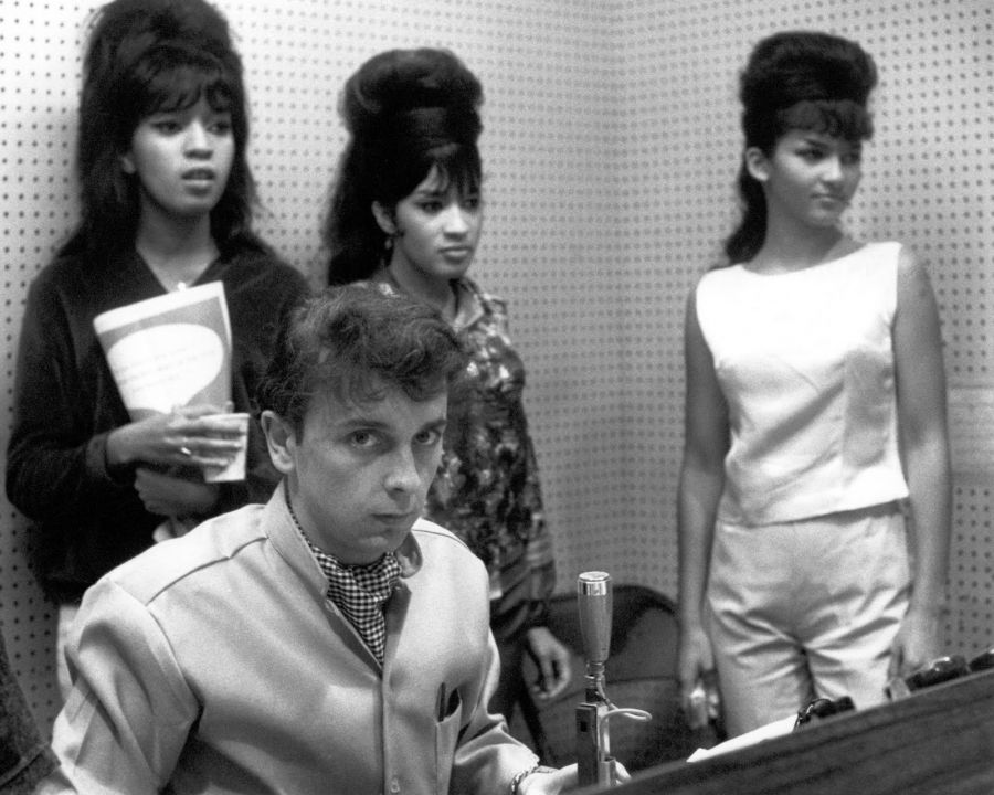 The Ronettes with mastermind producer Phil Spector