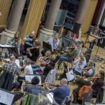 Cast rehearsing with Liverpool Philharmonic
