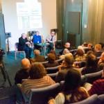 Terri Hooley, Bernie Connor and Stuart Bailie at the Good Vibrations Q&A