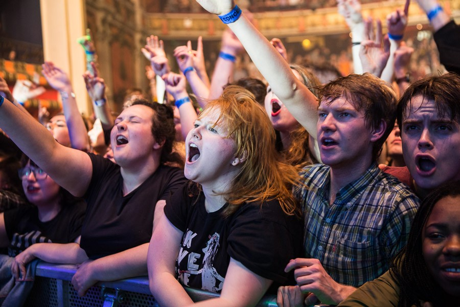 The crowd at Foals
