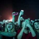 Fans watching The 1975 at Liverpool University