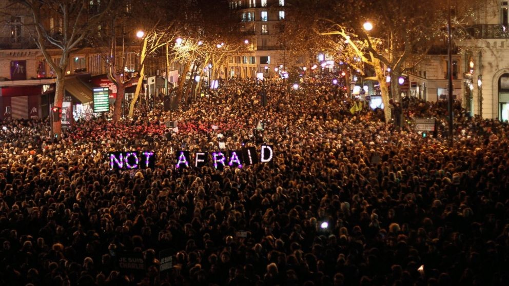 Paris unites after the terror attacks last night
