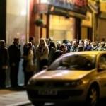 The queue for George Ezra at Leaf
