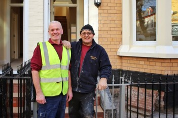Eddie and Carl on the Granby site