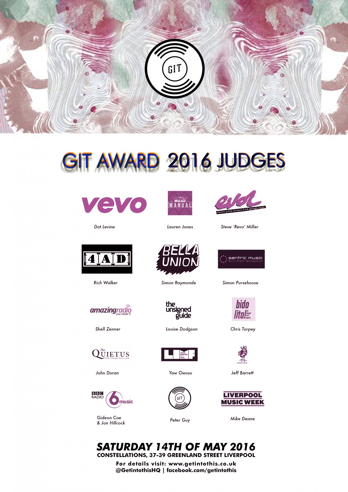 The GIT Award 2016 judging panel
