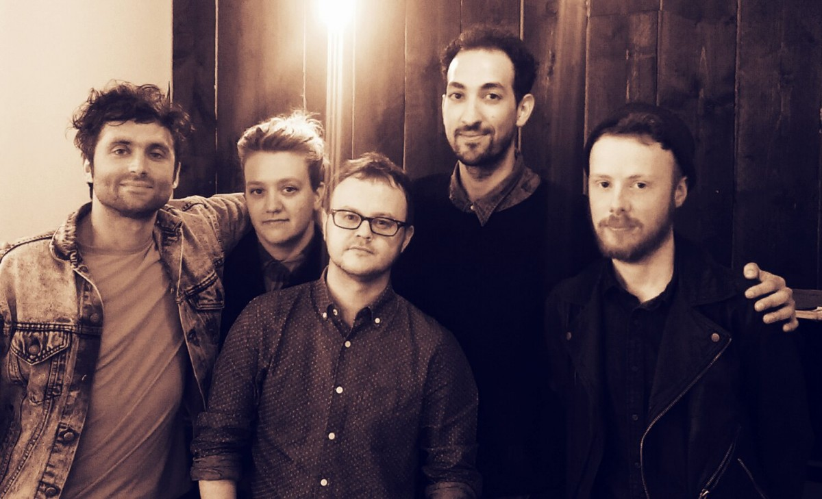GIT Award winners Forest Swords and All We Are receive their £1000 cash prize from Getintothis editor Peter Guy