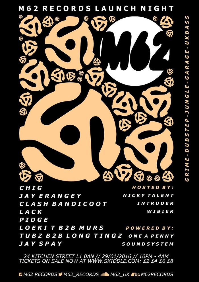 M62 records flyer