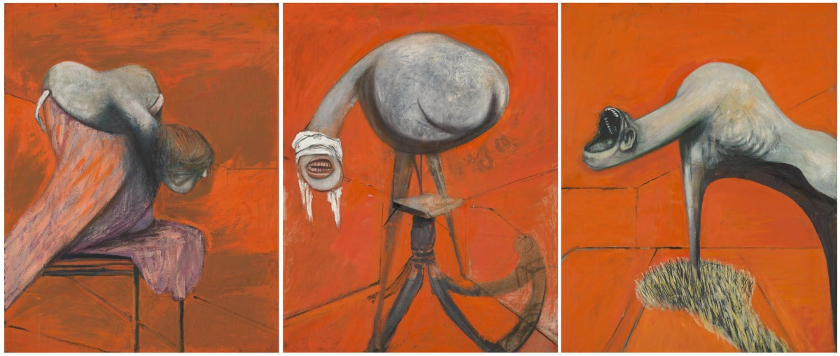 Francis Bacon's Three Studies for Figures at the Base of a Crucifixion (1944)