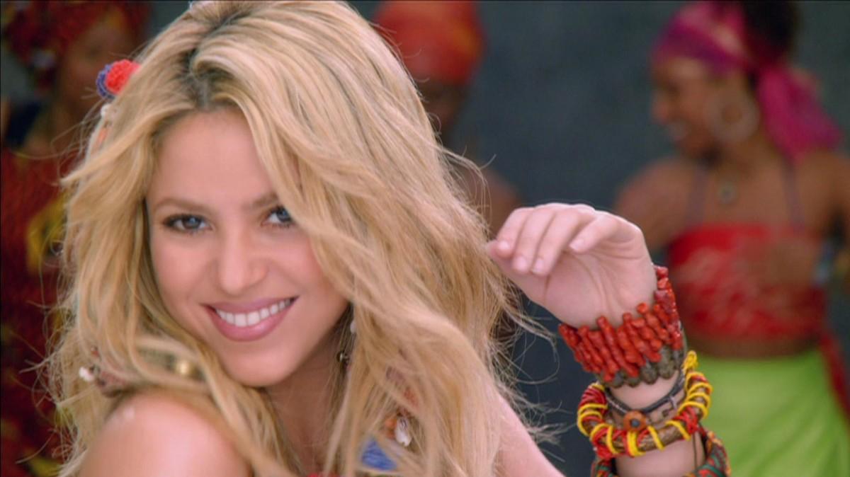 "Shakira in the video for the ""classic"" Waka Waka"