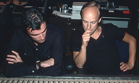 David Byrne and Brian Eno in the studio