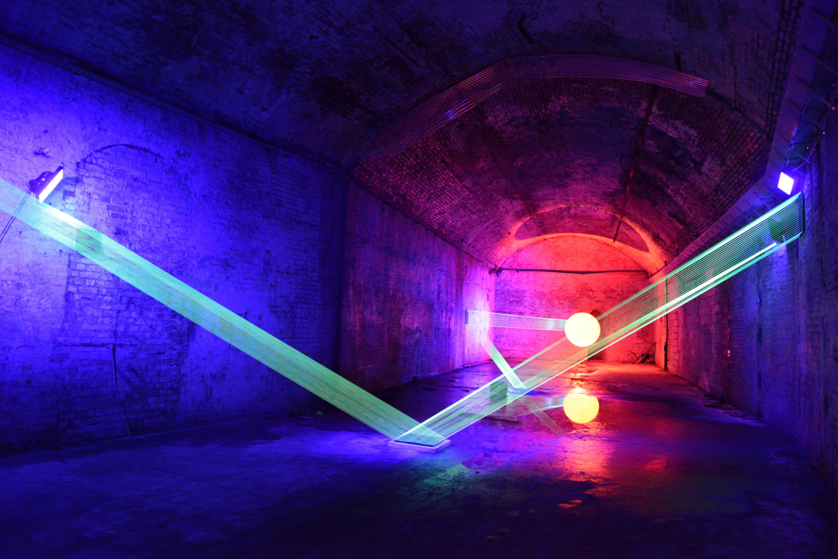 An example of David Ogle's light installation - photo credit - Anne Purkiss