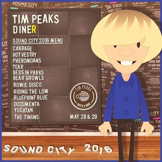 Tim Peaks Diner lineup at Liverpool Sound City festival.