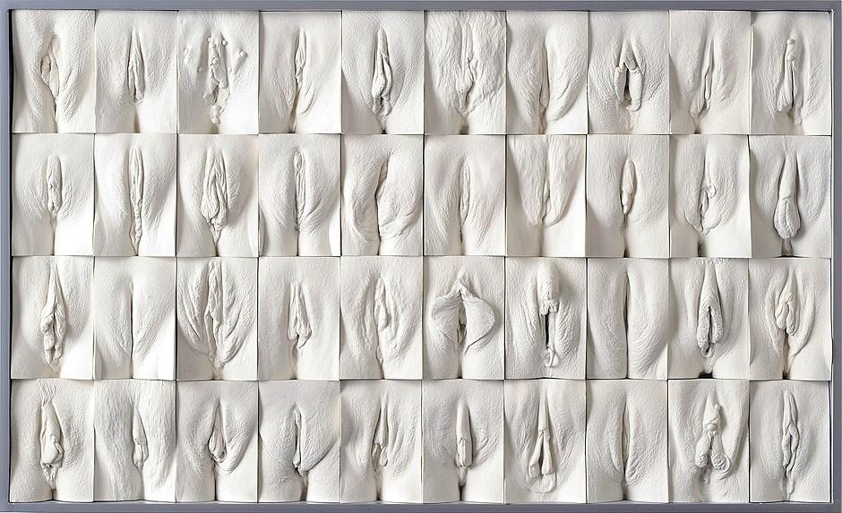 Jamie McCartney, The Great Wall of Vagina (2008)
