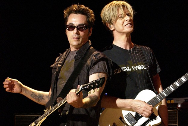 Earl Slick with David Bowie on the Reality Tour