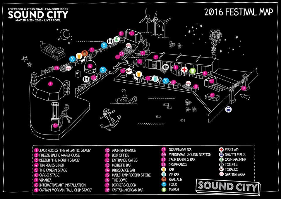 Sound City 2016 Map