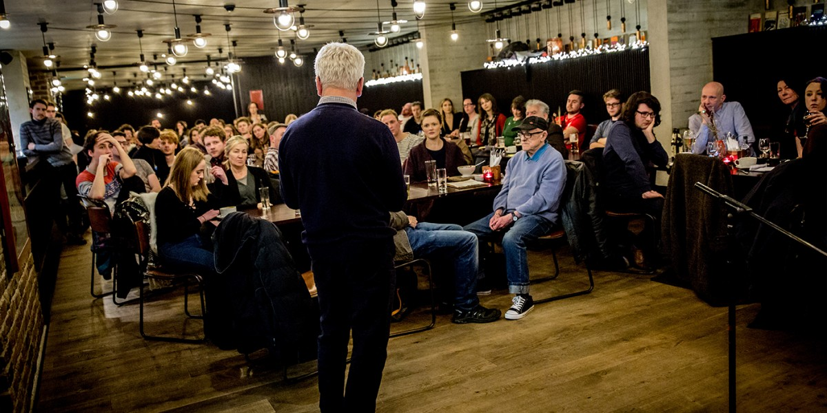 A rapt audience in the Everyman Bistro