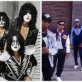 The casts of KISS Meets The Phantom of the Park and Straight Outta Compton (pics from artists' Facebook)