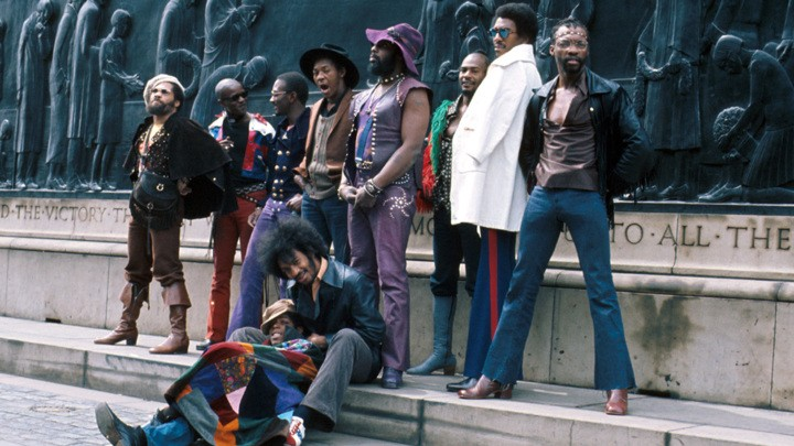 Funkadelic on tour in Liverpool, 1971 - Pic: Michael Ochs Archives